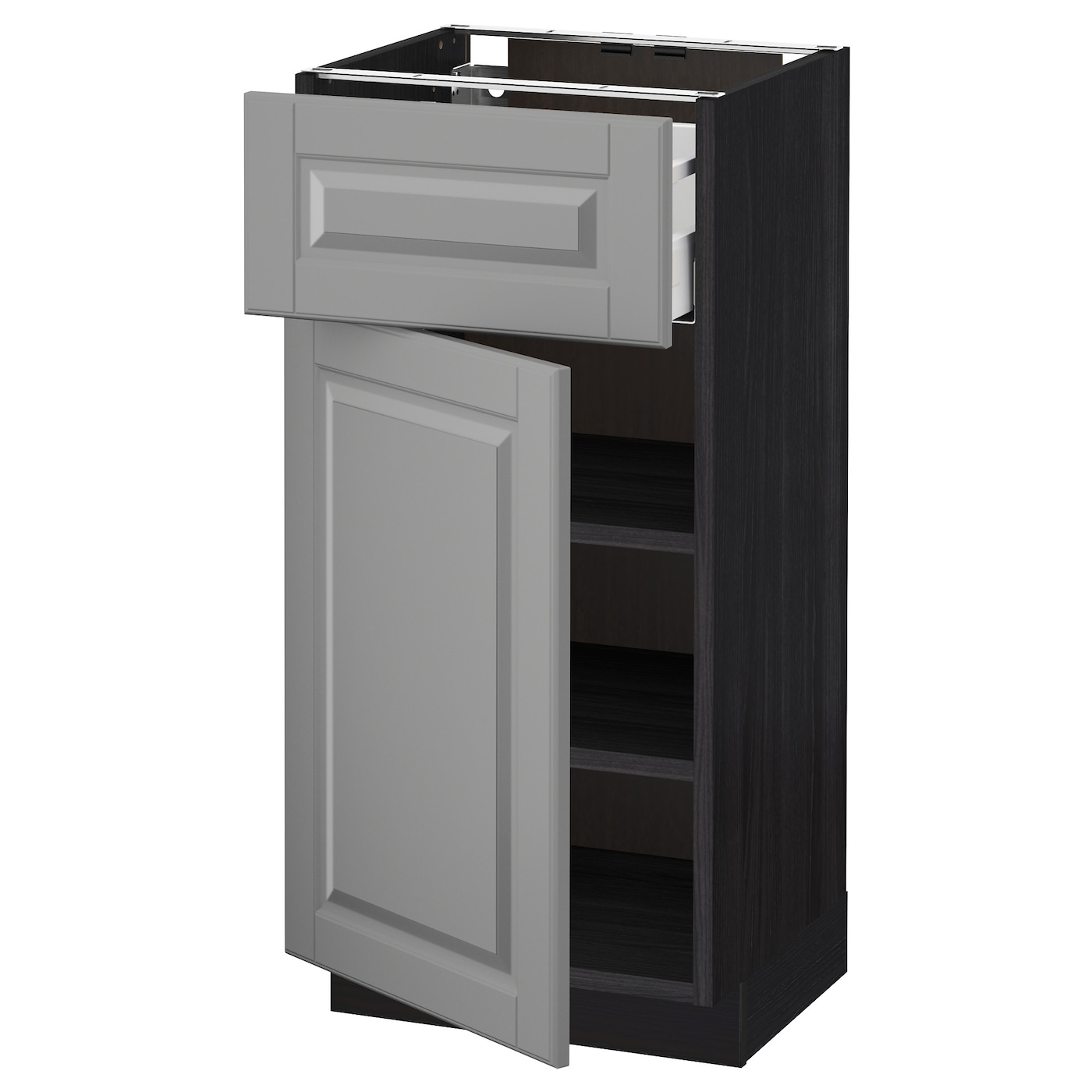black kitchen base cabinets metod maximera base cabinet with drawer door black bodbyn 12375