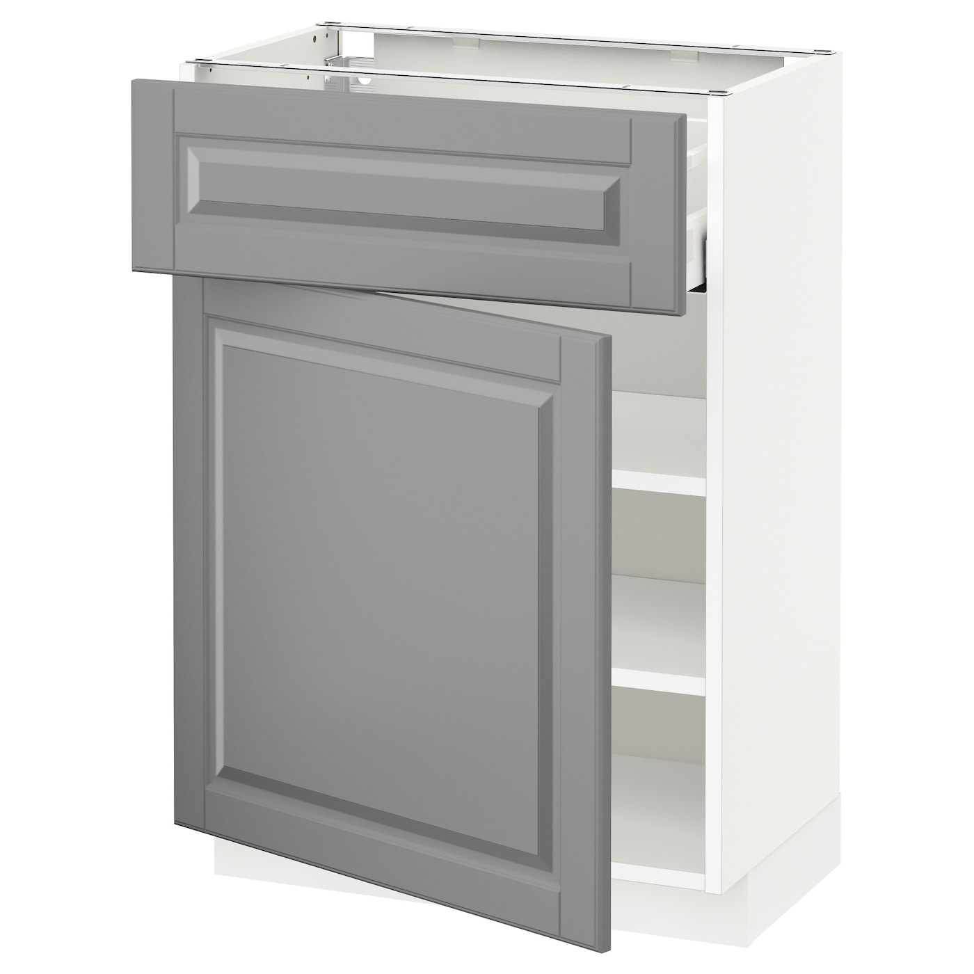 Ikea Kitchen Bodbyn Grey: METOD/MAXIMERA Base Cabinet With Drawer/door White/bodbyn