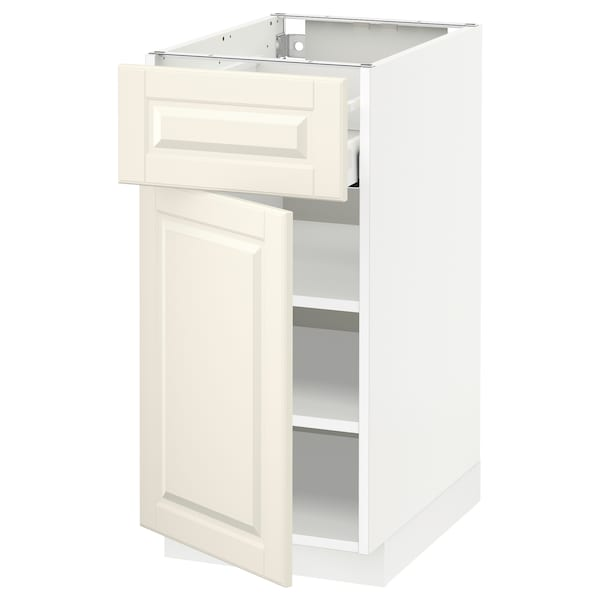 METOD / MAXIMERA Base cabinet with drawer/door, white/Bodbyn off-white, 40x60 cm