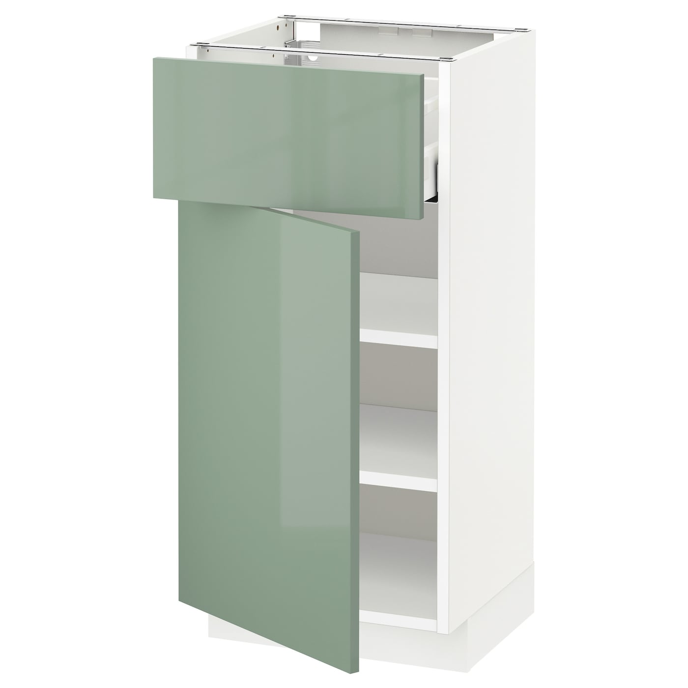 metod maximera base cabinet with drawer door white kallarp light green 40 x 37 cm ikea. Black Bedroom Furniture Sets. Home Design Ideas