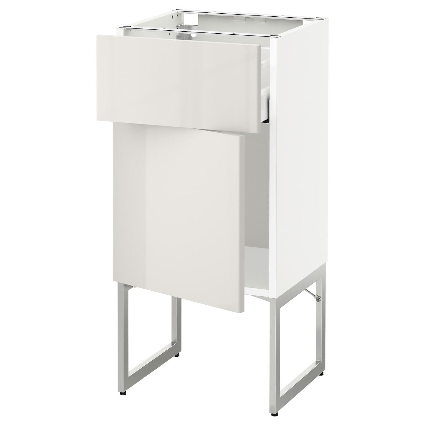 metod maximera base cabinet with drawer door white ringhult light grey 40x37x60 cm ikea. Black Bedroom Furniture Sets. Home Design Ideas