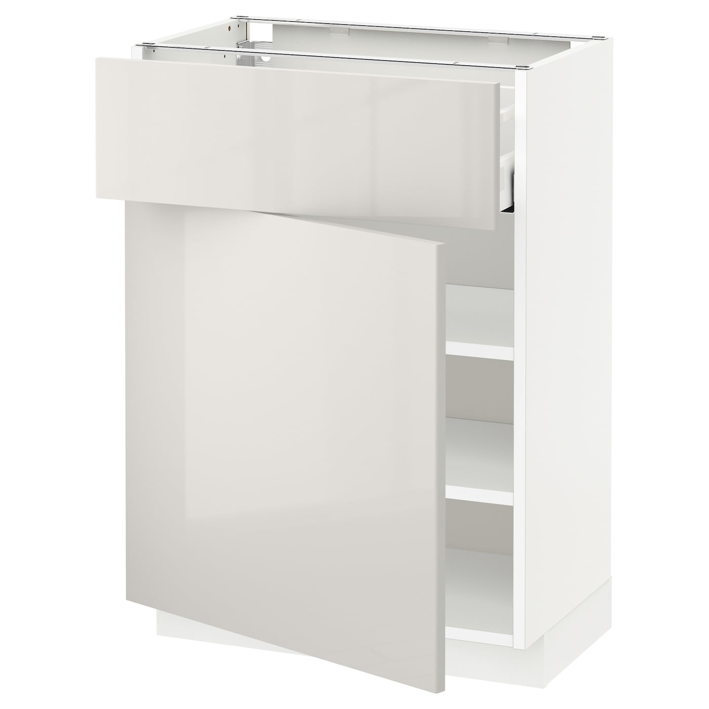 Ringhult Grey Kitchen: METOD/MAXIMERA Base Cabinet With Drawer/door White