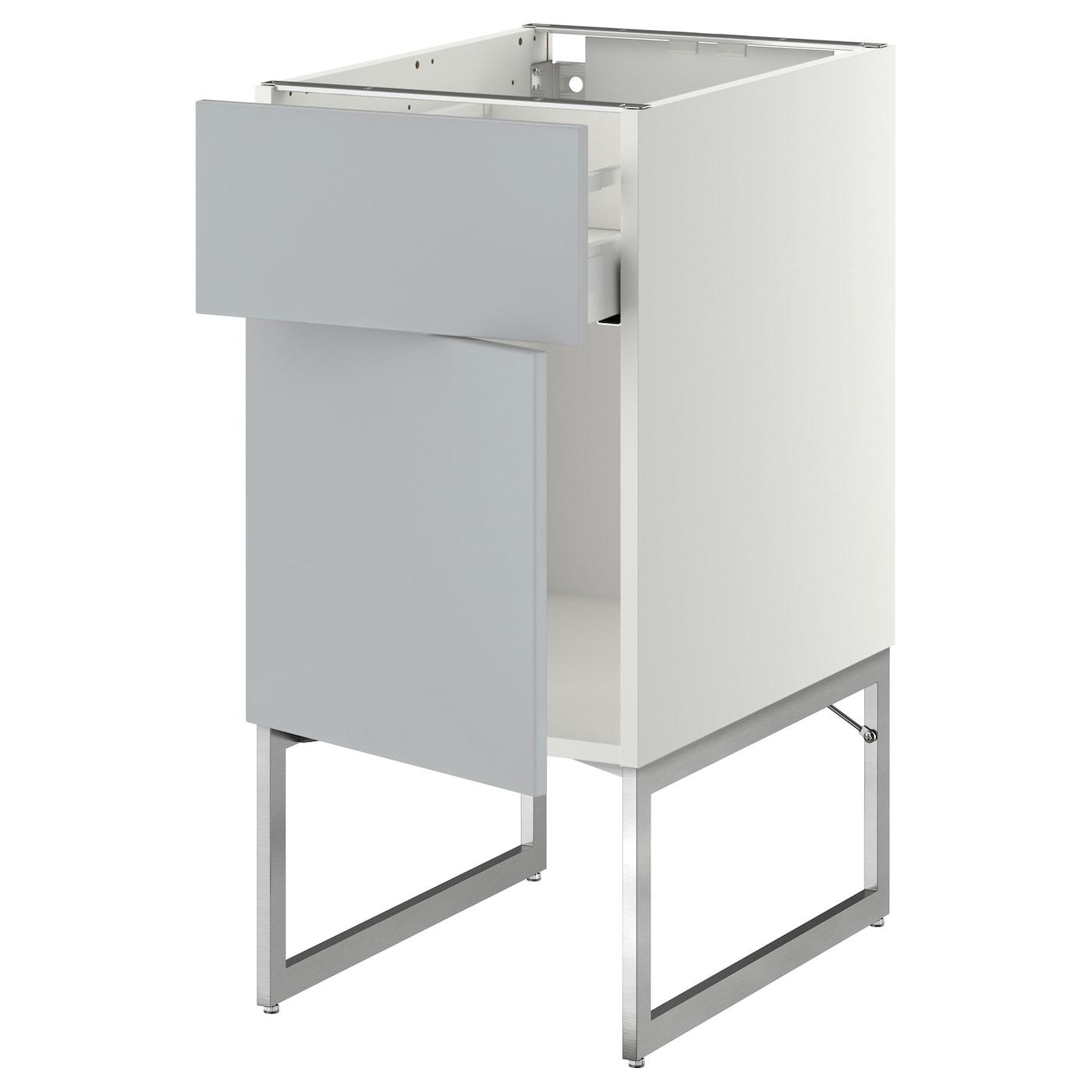 metod maximera base cabinet with drawer door white veddinge grey 40x60x60 cm ikea. Black Bedroom Furniture Sets. Home Design Ideas