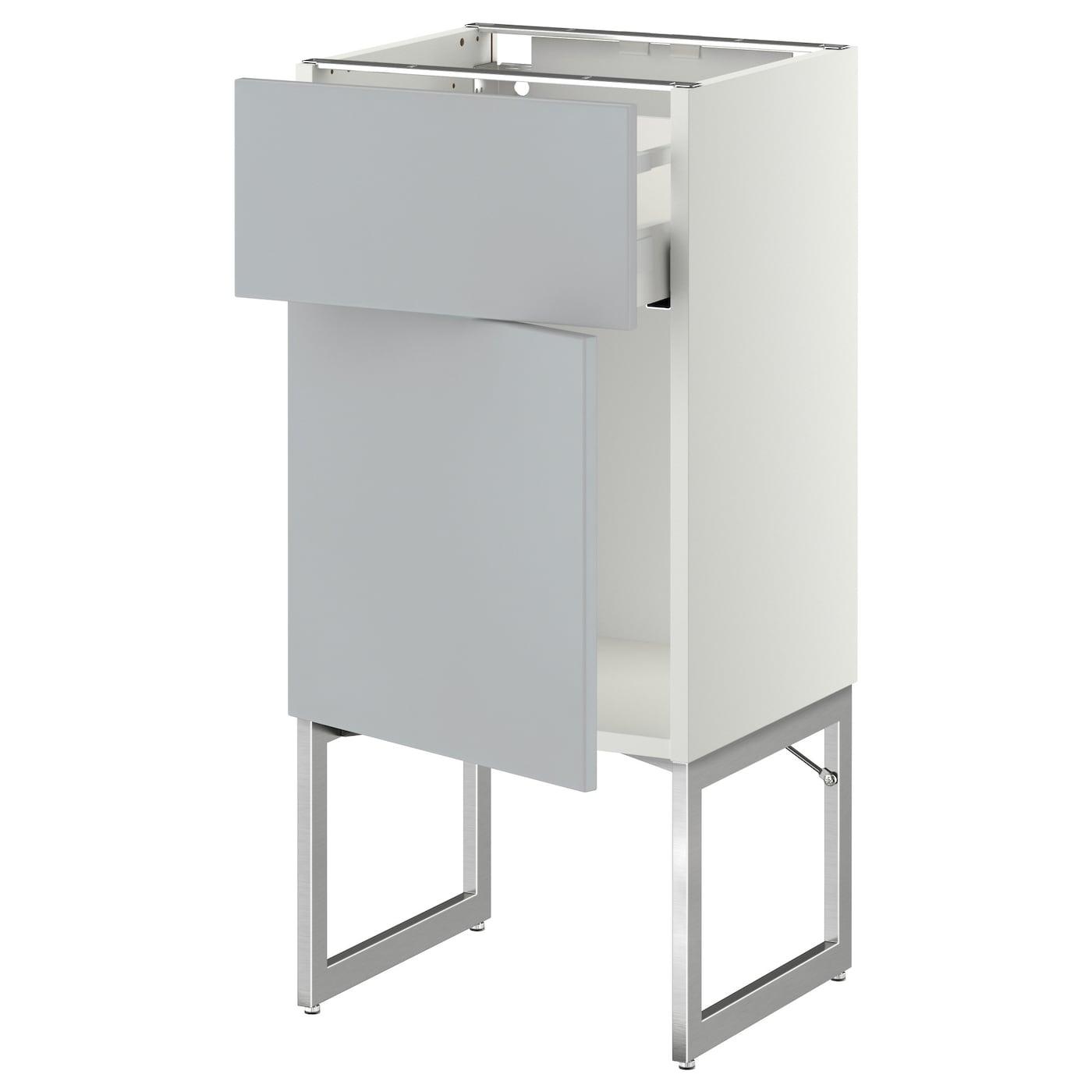 metod maximera base cabinet with drawer door white veddinge grey 40x37x60 cm ikea. Black Bedroom Furniture Sets. Home Design Ideas