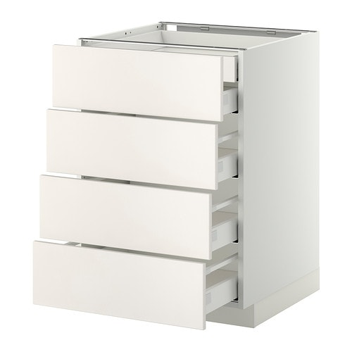 METOD/MAXIMERA Base cb 4 frnts/2 low/3 md drwrs IKEA The drawers close slowly, quietly and softly thanks to the built-in dampers.