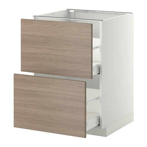 METOD/MAXIMERA Base cb 2 fronts/2 high drawers IKEA The drawers close slowly, quietly and softly thanks to the built-in dampers.