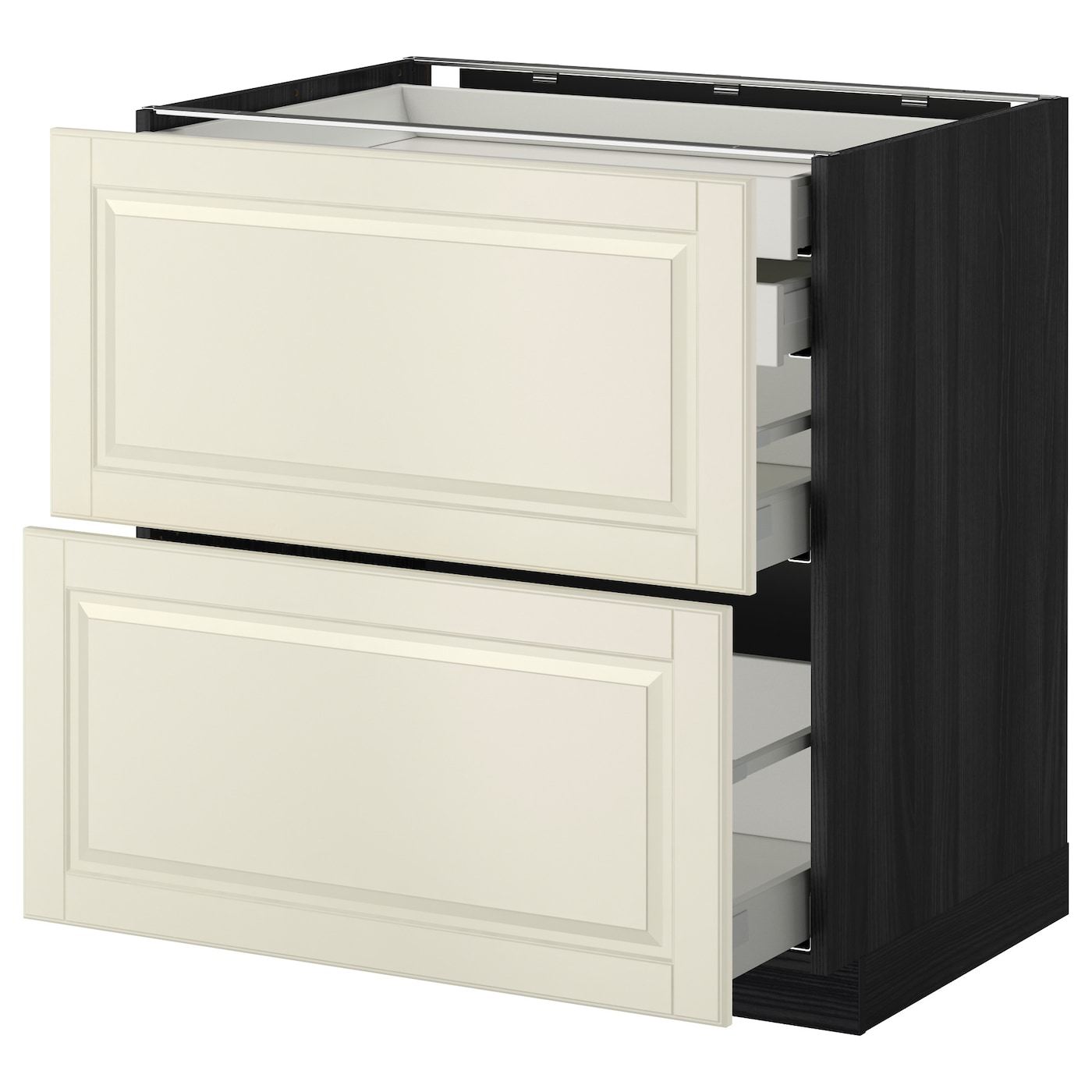 IKEA METOD/MAXIMERA base cb 2 frnts/2 low/1 md/1 hi drw Smooth-running drawers with stop.
