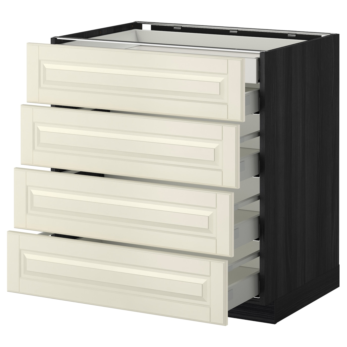 IKEA METOD/MAXIMERA base cb 4 frnts/2 low/3 md drwrs Smooth-running drawers with stop.