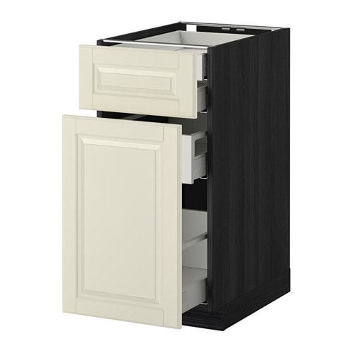 METOD/MAXIMERA Base cb/p-out stor/frnt/2 low drwrs IKEA The drawers close slowly, quietly and softly thanks to the built-in dampers.