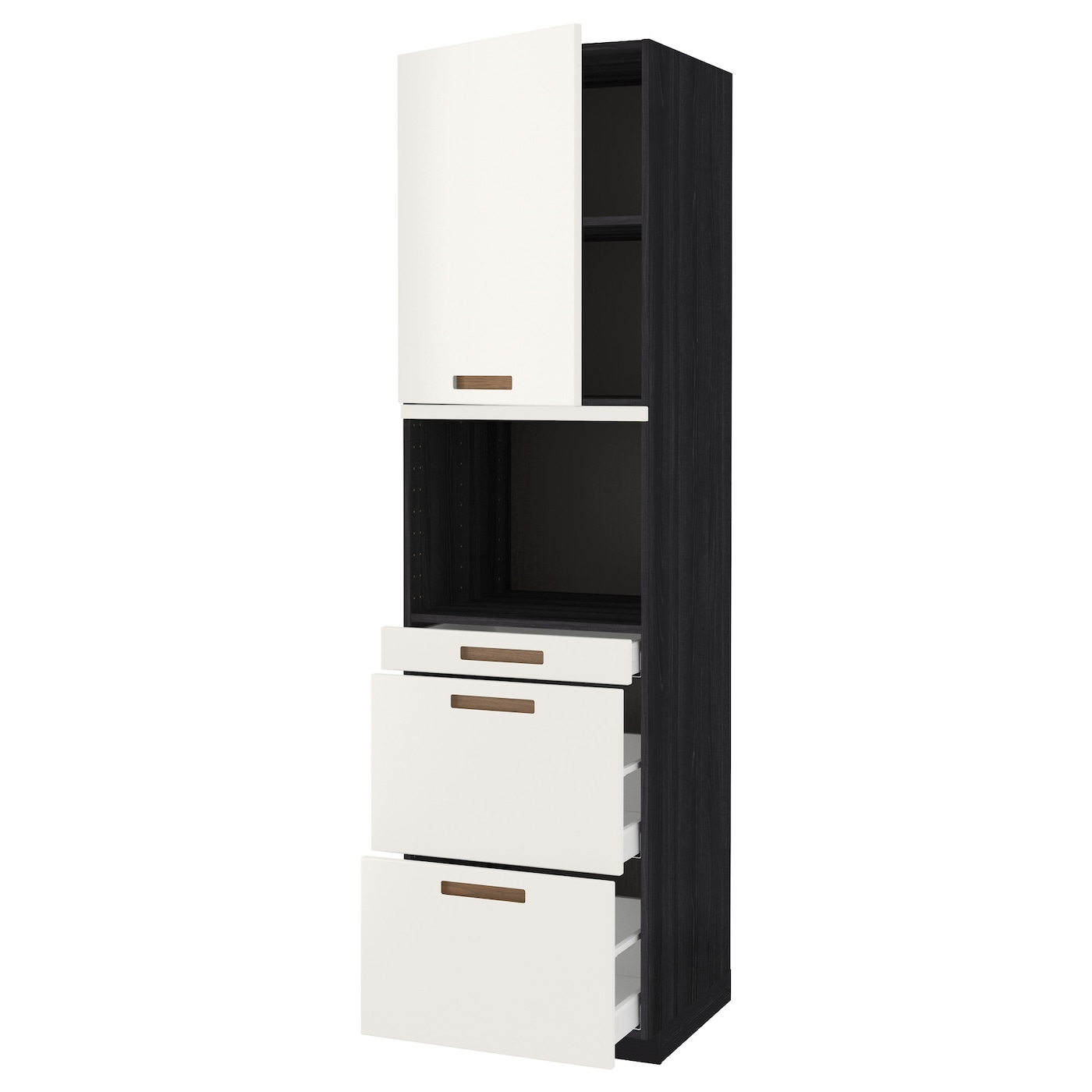 IKEA METOD/MAXIMERA hi cab f micro combi w door/3 drwrs Sturdy frame construction, 18 mm thick.