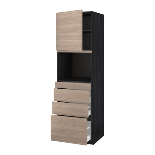 IKEA METOD/MAXIMERA hi cab f micro combi w door/4 drwrs Sturdy frame construction, 18 mm thick.