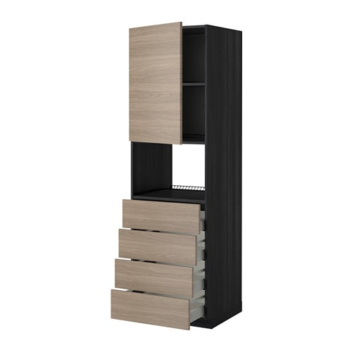IKEA METOD/MAXIMERA high cab f micro w door/4 drawers Sturdy frame construction, 18 mm thick.