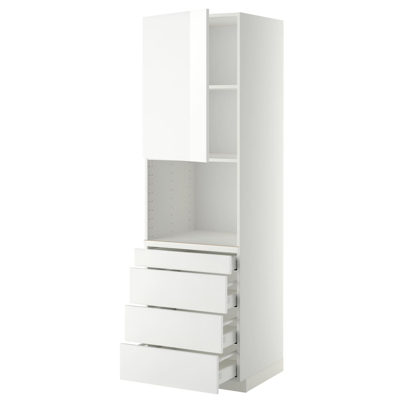 IKEA METOD/MAXIMERA high cab for combi micro/4 drawers Sturdy frame construction, 18 mm thick.