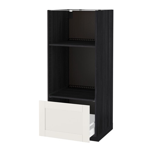 IKEA METOD/MAXIMERA high cab for oven/micro w drawer Sturdy frame construction, 18 mm thick.