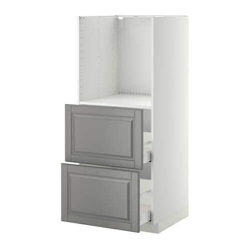 METOD/MAXIMERA High Cabinet W 2 Drawers For Oven White