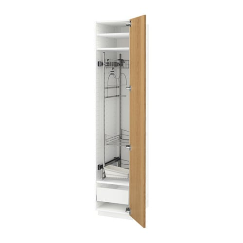 METOD/MAXIMERA High Cabinet With Cleaning Interior White