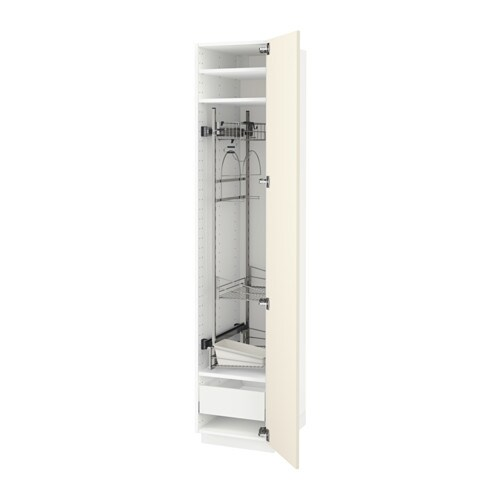 Cleaning Kitchen Cabinets: METOD/MAXIMERA High Cabinet With Cleaning Interior White