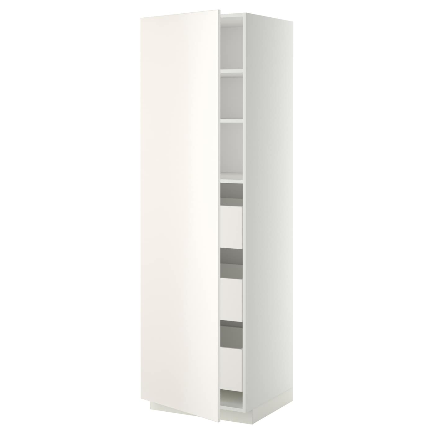 metod maximera high cabinet with drawers white veddinge white 60 x 60 x 200 cm ikea. Black Bedroom Furniture Sets. Home Design Ideas
