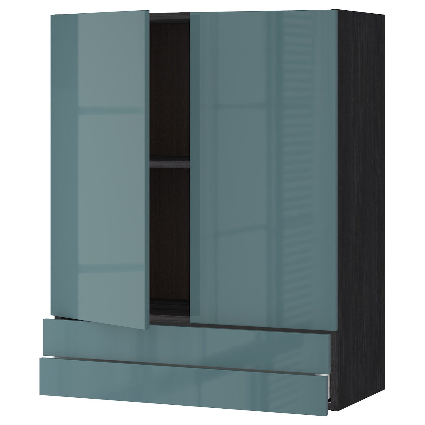 IKEA METOD/MAXIMERA wall cabinet w 2 doors/2 drawers Sturdy frame construction, 18 mm thick.