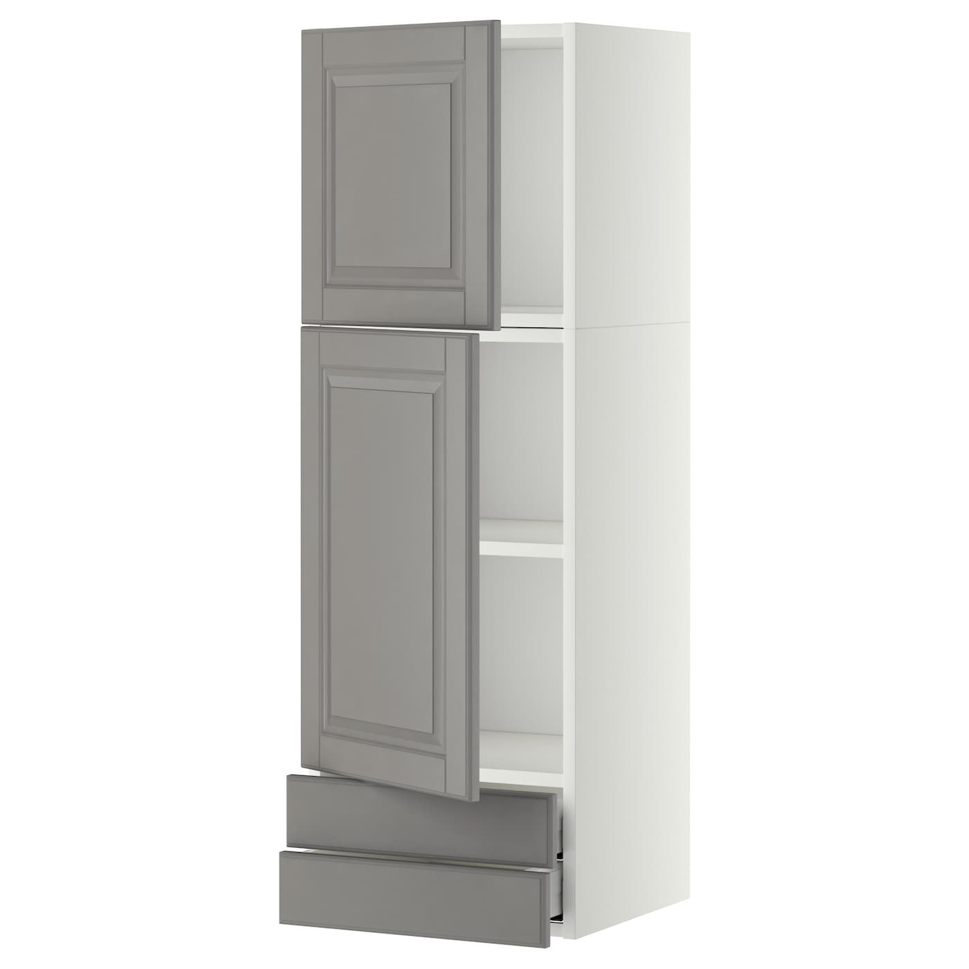 metod maximera wall cabinet w 2 doors 2 drawers white bodbyn grey 40x120 cm ikea. Black Bedroom Furniture Sets. Home Design Ideas