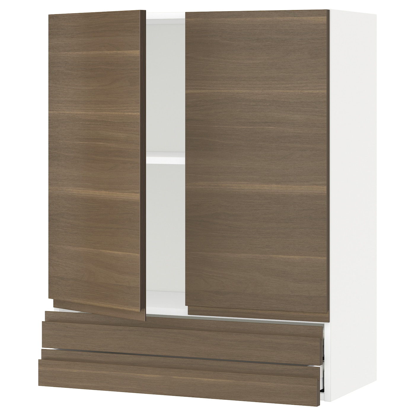 Metod Wall Cabinet With 2 Doors White Voxtorp High Gloss: METOD/MAXIMERA Wall Cabinet W 2 Doors/2 Drawers White