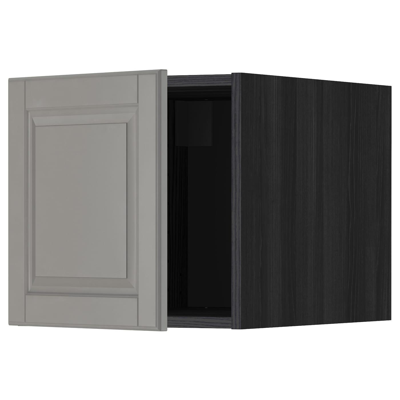 metod top cabinet black bodbyn grey 40x40 cm ikea. Black Bedroom Furniture Sets. Home Design Ideas