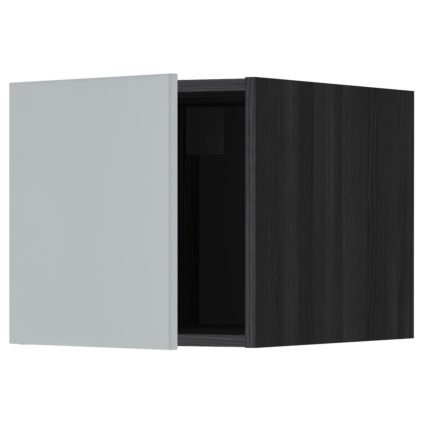 metod top cabinet black veddinge grey 40x40 cm ikea. Black Bedroom Furniture Sets. Home Design Ideas