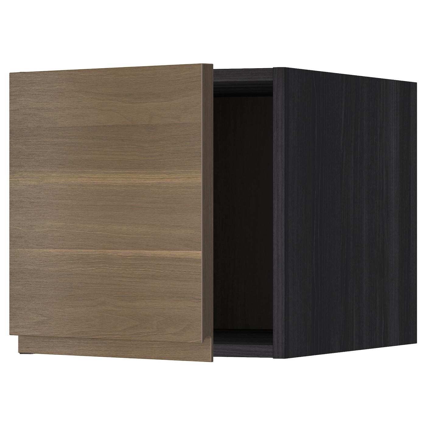 metod top cabinet black voxtorp walnut 40x40 cm ikea. Black Bedroom Furniture Sets. Home Design Ideas