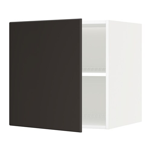 Metod top cabinet to fridge freezer white kungsbacka for Ikea chest freezer