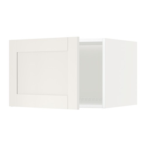 Metod top cabinet to fridge freezer white s vedal white for Ikea chest freezer