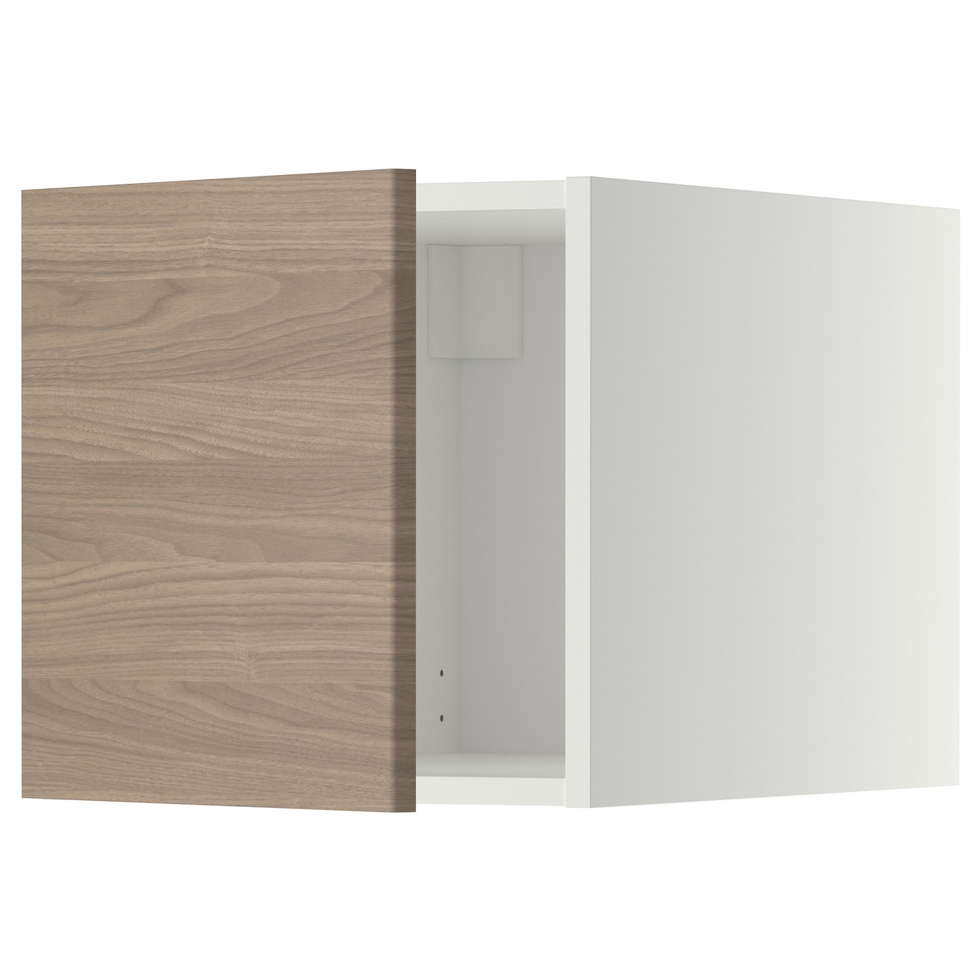 METOD Top cabinet White/brokhult light grey 40x40 cm - IKEA