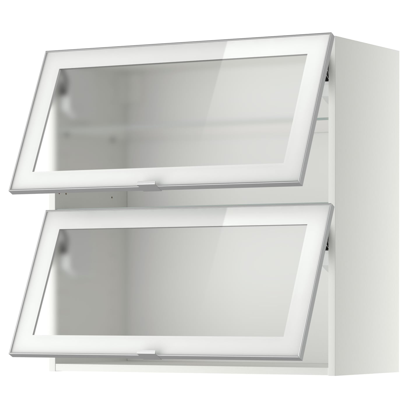 Metod Wall Cab Horizontal W 2 Glass Doors Whitejutis Frosted Glass