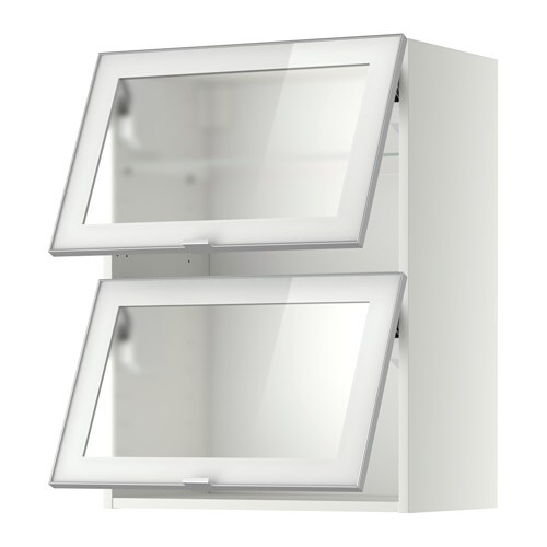 IKEA METOD wall cab horizontal w 2 glass doors Door lift with catch for gentle closing included.
