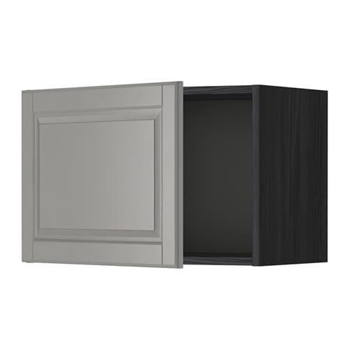 metod wall cabinet black bodbyn grey pe s4