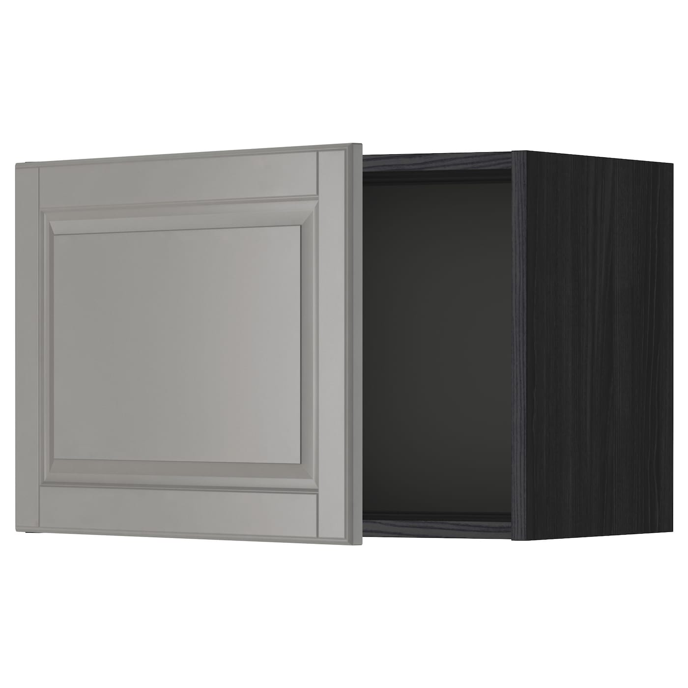 Ikea Kitchen Bodbyn Grey: METOD Wall Cabinet Black/bodbyn Grey 60 X 40 Cm