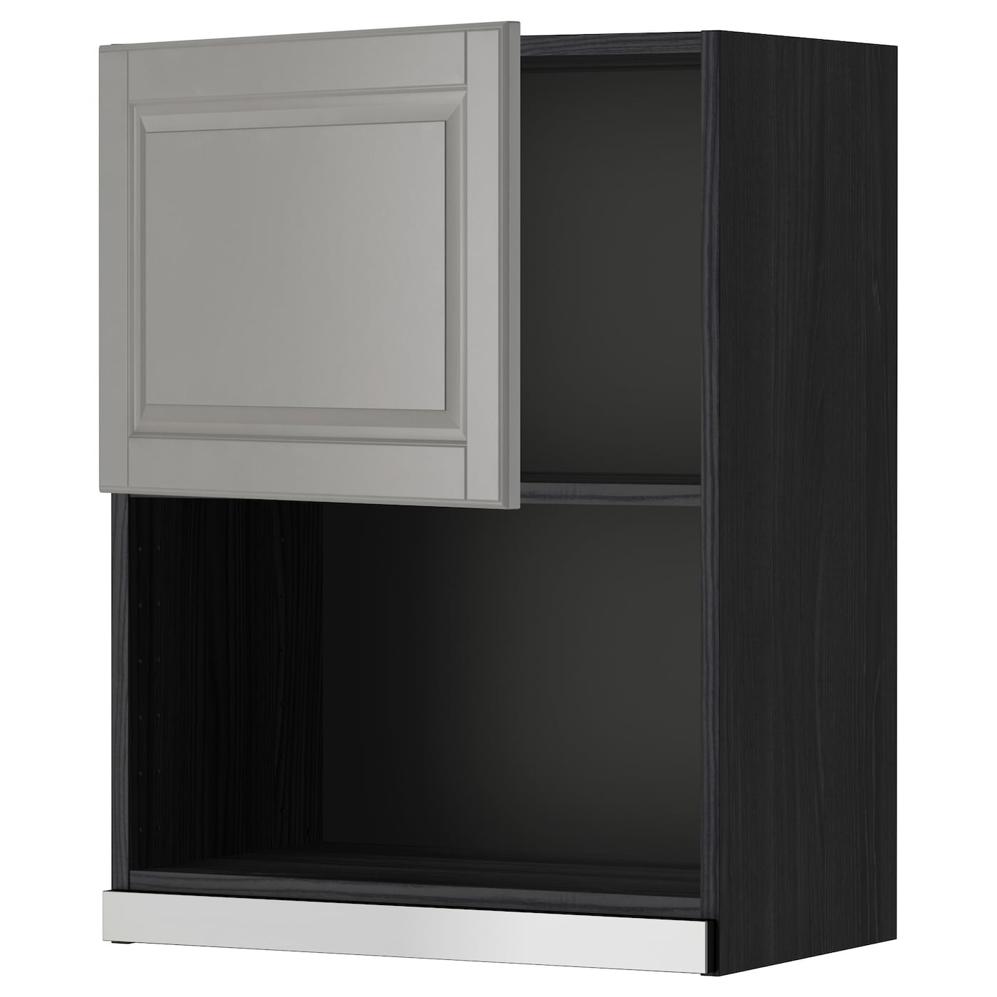 Ikea Kitchen Microwave Cabinet: METOD Wall Cabinet For Microwave Oven Black/bodbyn Grey 60