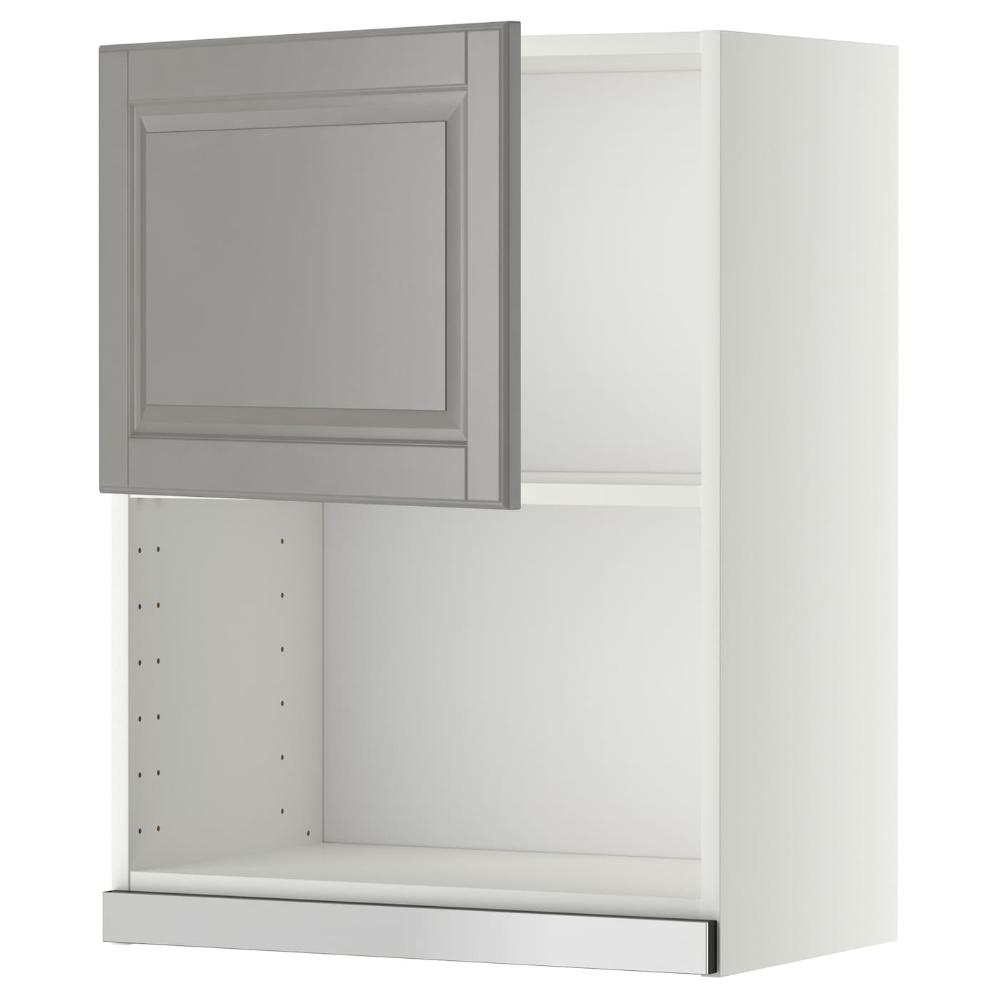 metod wall cabinet for microwave oven white bodbyn grey 60x80 cm ikea. Black Bedroom Furniture Sets. Home Design Ideas