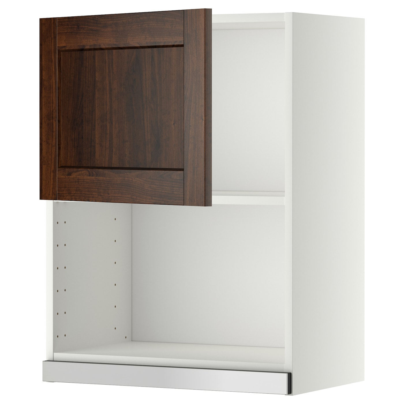 METOD Wall cabinet for microwave oven White edserum brown