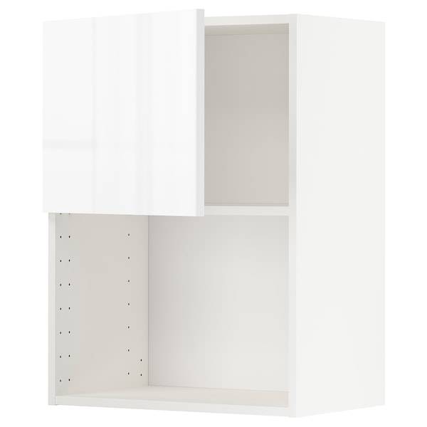 METOD Wall cabinet for microwave oven, white/Ringhult white, 60x80 cm
