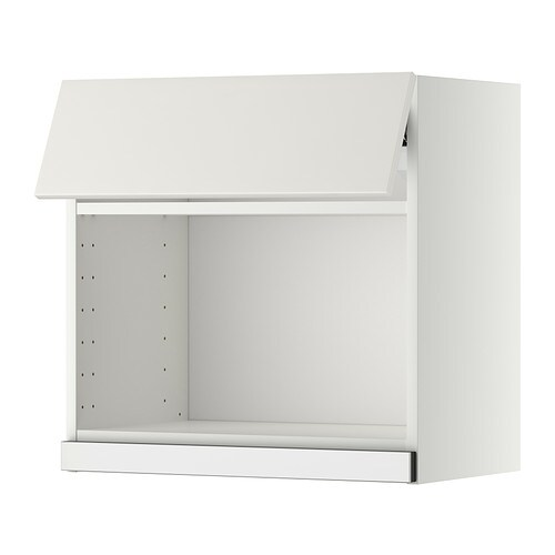 Metod wall cabinet for microwave oven white veddinge white for Microwave table ikea