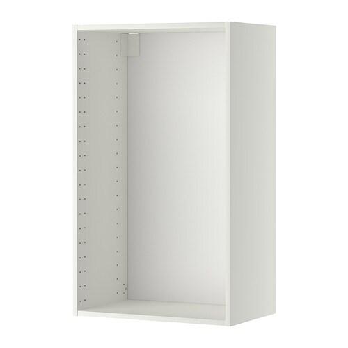 metod wall cabinet frame white 60x37x100 cm ikea. Black Bedroom Furniture Sets. Home Design Ideas
