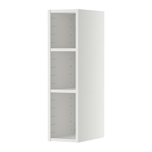 Metod wall cabinet frame white 20x37x80 cm ikea for Colonne salle de bain 20 cm largeur