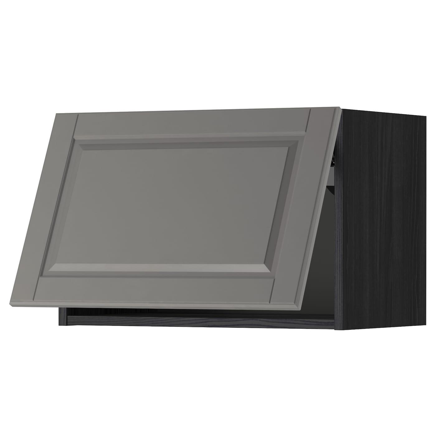 METOD Wall Cabinet Horizontal Black/bodbyn Grey 60 X 40 Cm