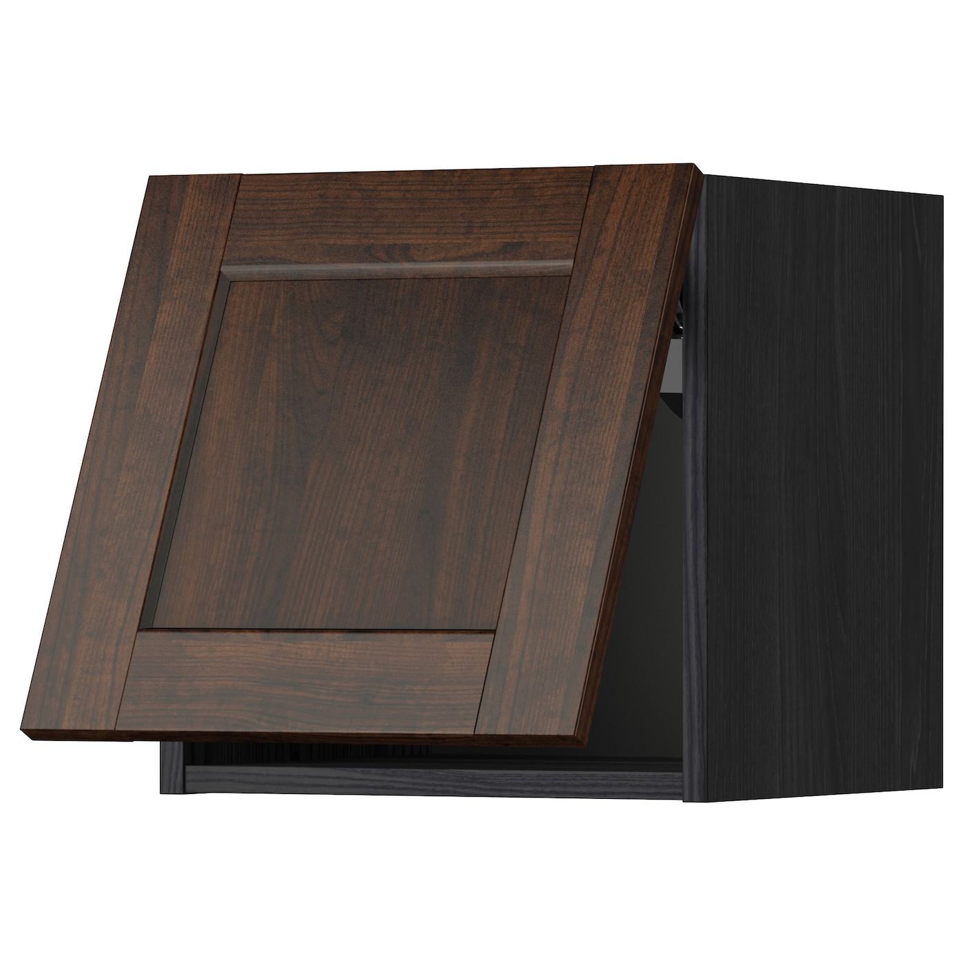 METOD Wall Cabinet Horizontal Black/edserum Brown 40x40 Cm