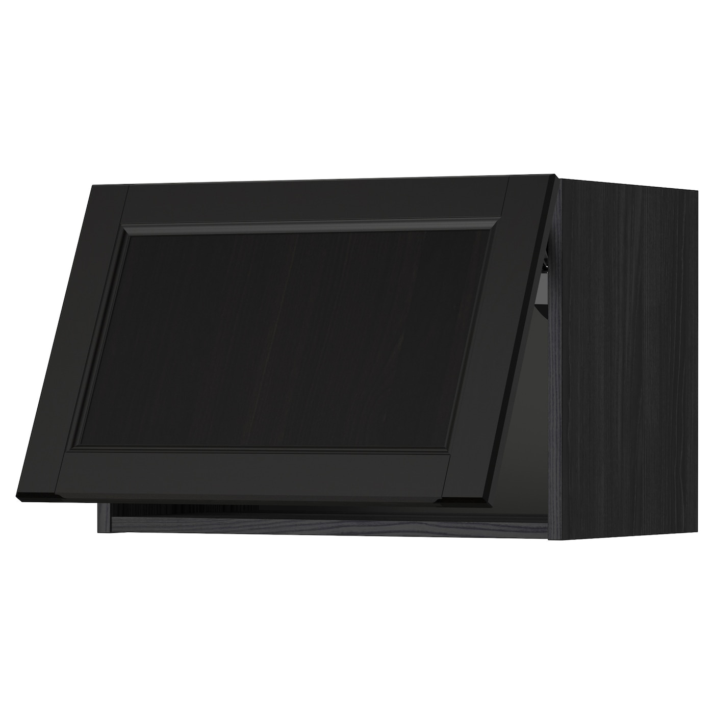 METOD Wall Cabinet Horizontal Black/laxarby Black-brown 60x40 Cm