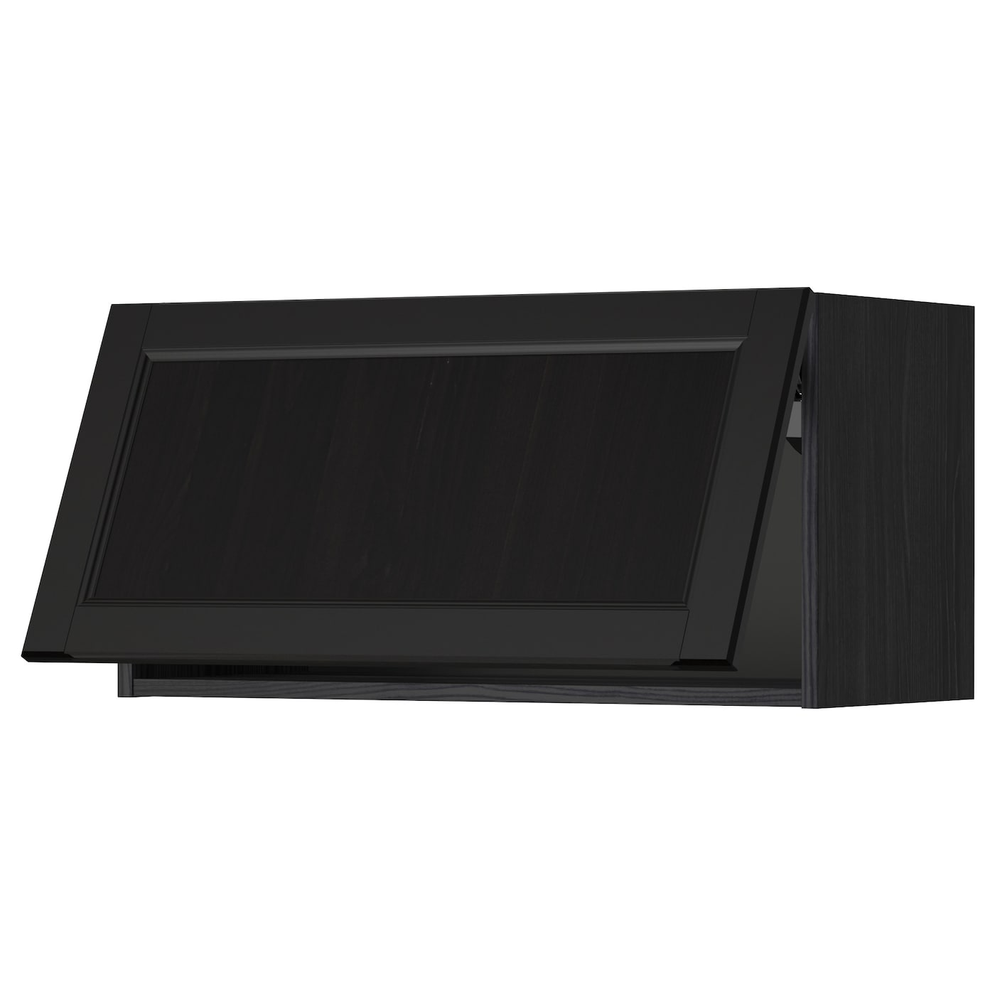 ikea horizontal kitchen cabinets metod wall cabinet horizontal black laxarby black brown 17603