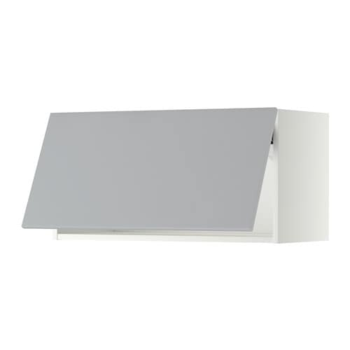 metod wall cabinet horizontal white veddinge grey