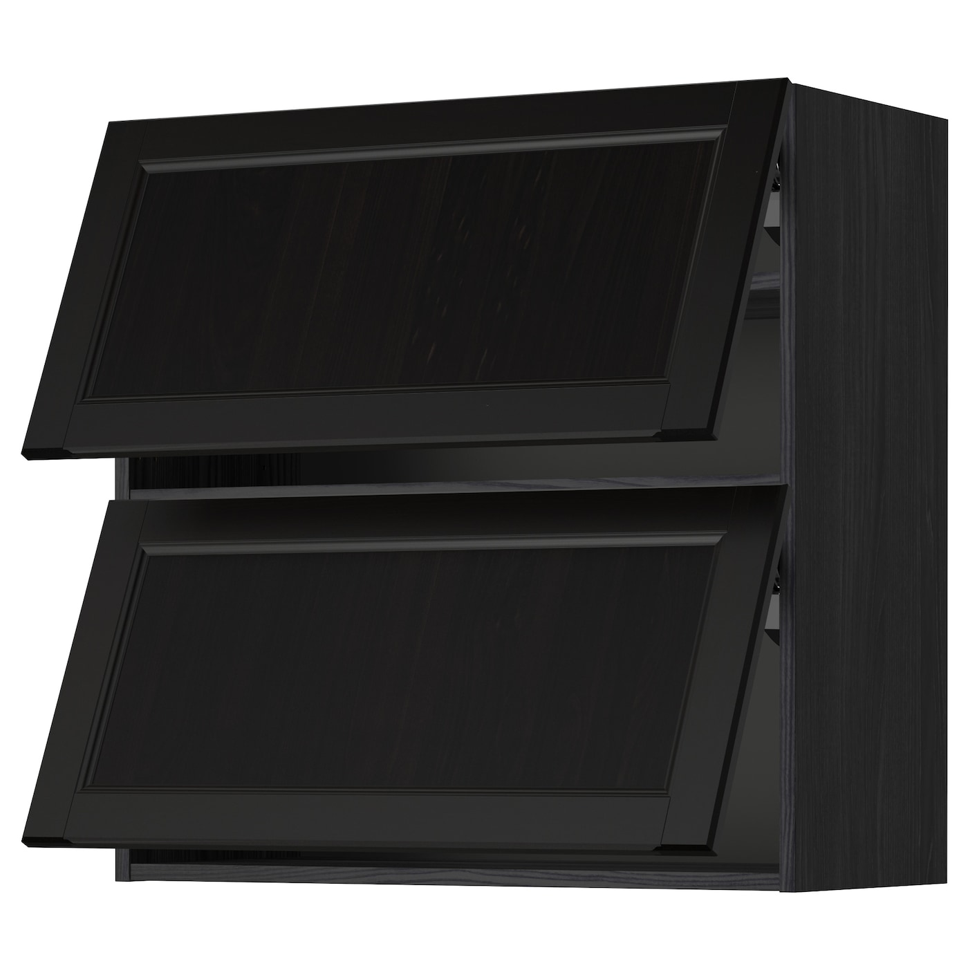 ikea horizontal kitchen cabinets metod wall cabinet horizontal w 2 doors black laxarby 17603