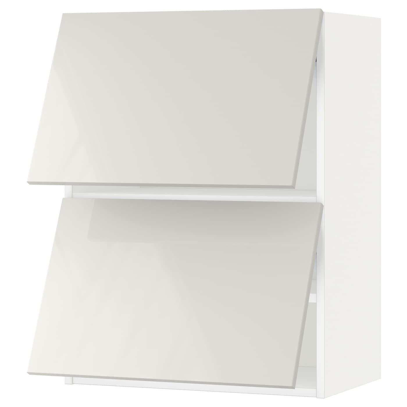 Ringhult Door High Gloss White 60 X 80 Cm: METOD Wall Cabinet Horizontal W 2 Doors White/ringhult
