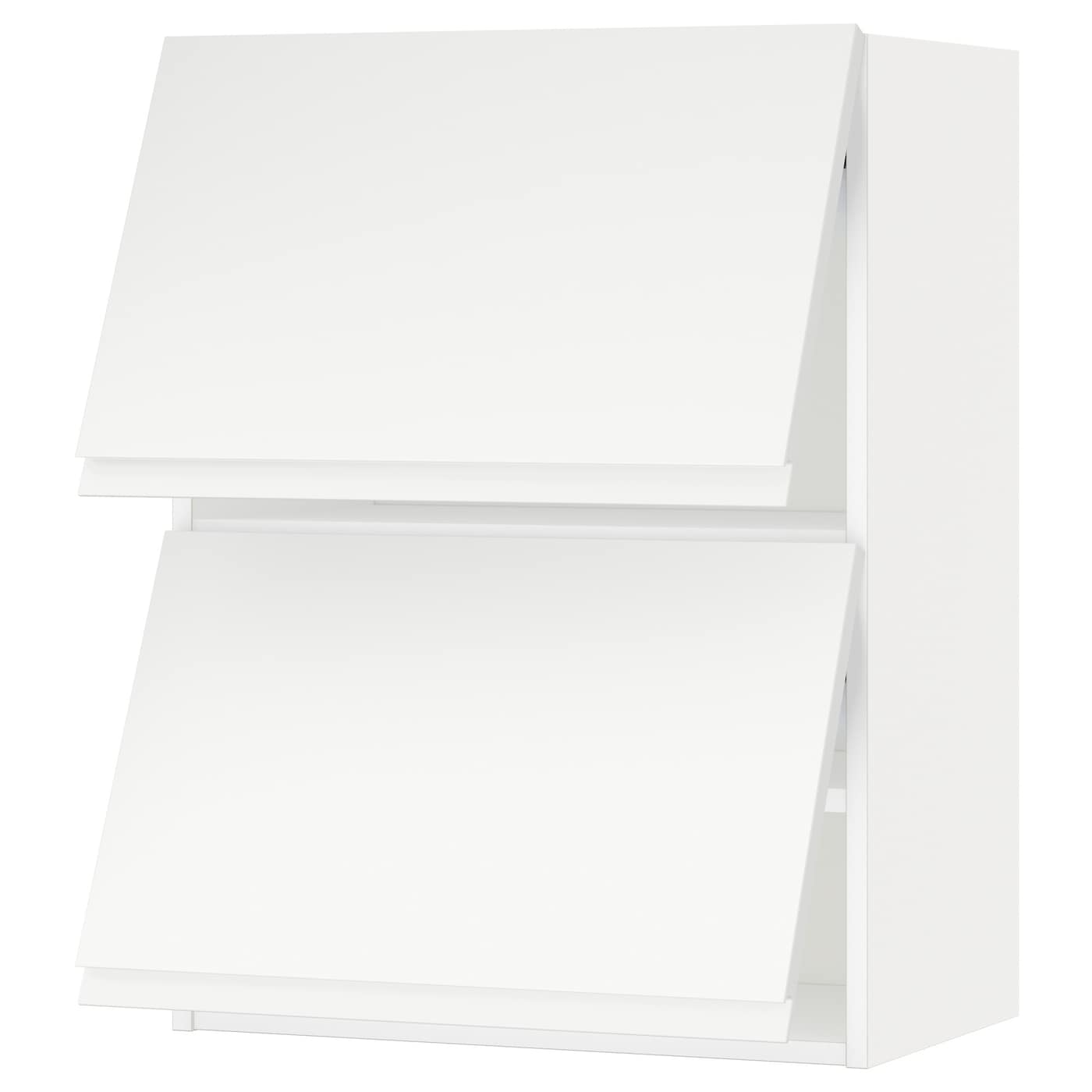 Metod Wall Cabinet With 2 Doors White Voxtorp High Gloss: METOD Wall Cabinet Horizontal W 2 Doors White/voxtorp Matt